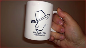 Dudley's own branded coffee mug