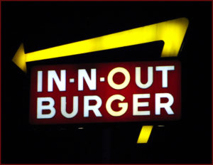 IN-N-OUT. IN-N-OUT. THAT'S WHAT SHOPPING'S ALL ABOUT.